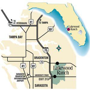 Map of Lakewood Ranch area, dog training
