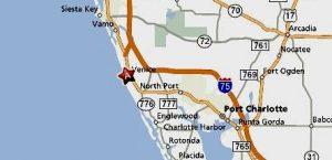 Map of Venice, FL, dog training